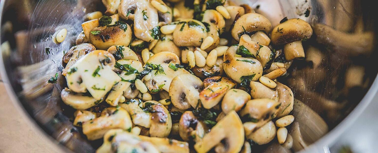 Côte à l'os met champignons en rucola- werkwijze1