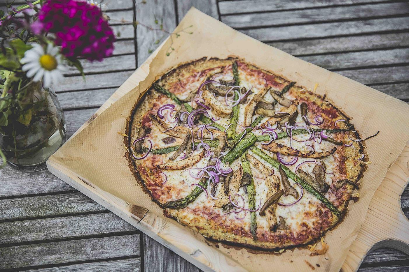 Bloemkool/broccoli pizza
